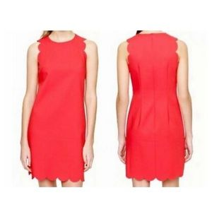 J Crew scalloped dress